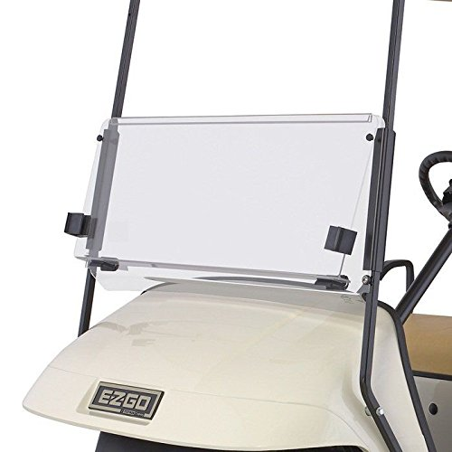 EZGO TXT 1995-2013 Clear Fold Down Impact Resistant Windshield for EZGO TXT Golf Cart
