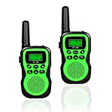 Best Gifts for Children, Happy Gift Toys Walkie Talkies for Kids,Fun Toys for 4-5 Year Old Boys,Kid Toys for 6-10 Year Old Travel Hunting,HK-588 1 Pair(Green)