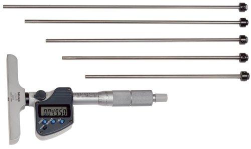 - Mitutoyo 329-350-10 Digital Depth Micrometer, Interchangeable Rod Type, Inch/Metric, 4 x 0.63