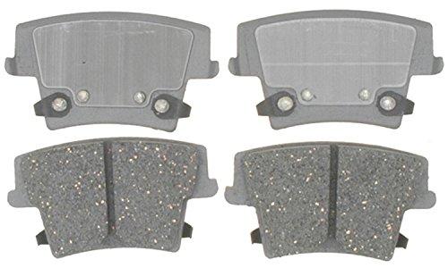 Dodge Brake Pad Sensor (ACDelco 14D1057C Advantage Ceramic Rear Disc Brake Pad Set with Wear)