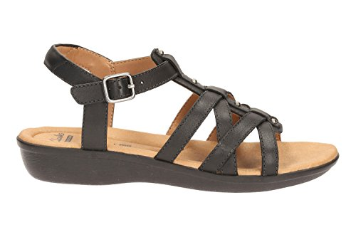 Clarks Manilla Bonita, Women's Sling Back Sandals Black