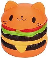 Rawdah Jumbo gato de dibujos animados hamburguesa perfumada lenta levantar exquisito niño juguete suave (naranja)