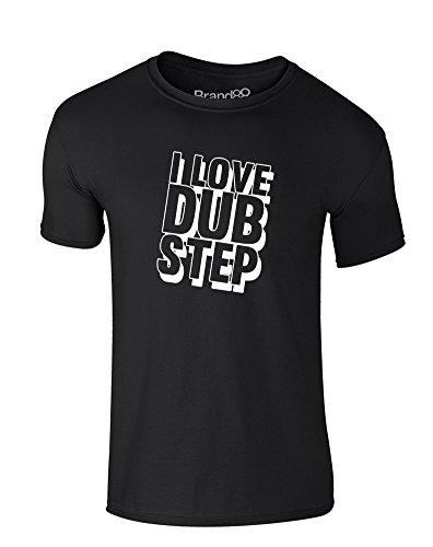 I Love Dub Step, Kids T-Shirt - Black/White 3-4 Years