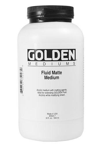 Golden Acrylic Fluid Matte Medium - 32 oz Jar ()