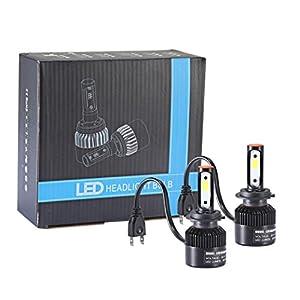 Car Light,Tuscom@ 9006 /H3 /H11/9005 110W 20000LM LED Headlight Conversion Kit Car Beam Bulb Driving Lamp 6000K (Black / Bulb Type :H11)