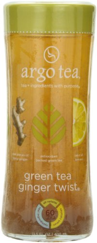 Argo Tea Iced Tea, Green Tea Ginger Twist, 13.5 Ounce (Pack of 12)