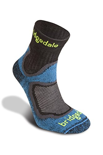 Bridgedale Men's Coolmax Lightweight T2 Trail Sport - Merino Comfort Socks, Blue, Medium ()
