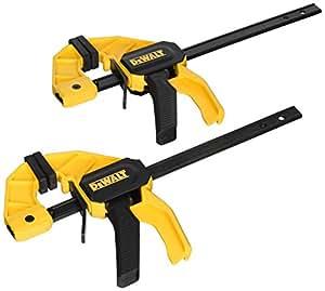 DEWALT DWHT83149 Medium Trigger Clamp with 6 inch Bar, 2pk