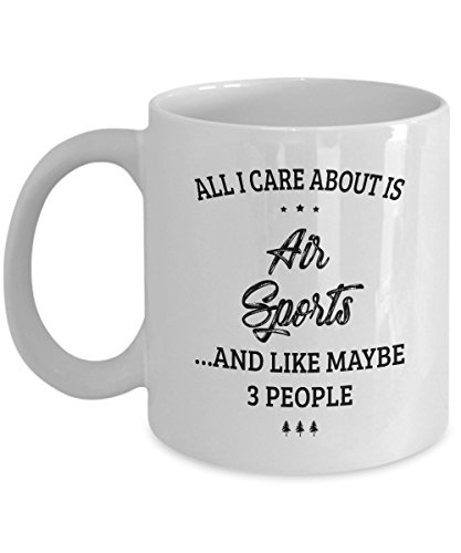 Air Sports Mug - I Care And Like Maybe 3 People - Funny Novelty Ceramic Coffee & Tea Cup Cool Gifts for Men or Women with Gift Box (Aero Sport Armband Case)