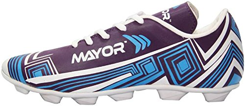 Mayor Men #39;s Casilla Sky Blue and Red Football Shoes