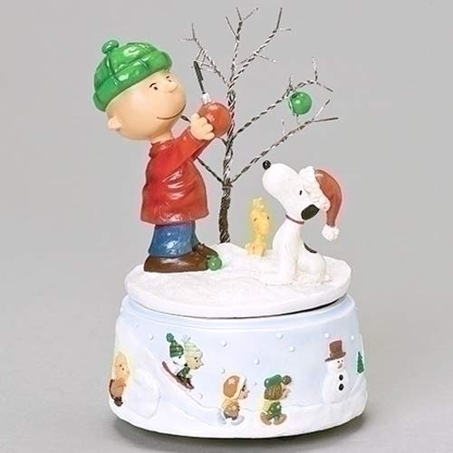 Charlie Browns Little Sister (Charlie Brown and Snoopy Snowy White Glitter 7 x 5 Resin Holiday Musical)
