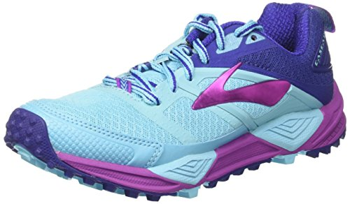 Brooks Cascadia 12, Zapatillas de Running Para Asfalto Mujer Multicolor (Bluefish/clematisblue/purpleca)