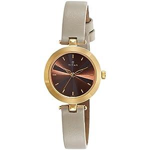 Titan Analog Brown Dial Women's Watch NM2574YL01 / NL2574YL01