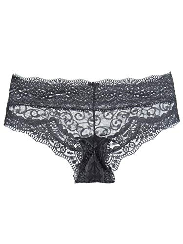 Calcinha Loungerie Boyshort Renda Love Lace Cinza  3003fb35a31