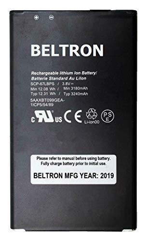 New BELTRON SCP-67LBPS 3240 mAh Replacement Battery for Kyocera Duraforce Pro 1 E6800 E6810 E6820 E6830 E6833 (AT&T, Sprint, Verizon) SCP67LBPS