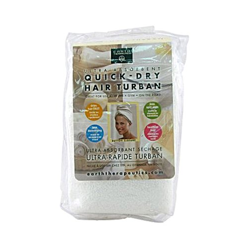 Earth Therapeutics Quick Dry Hair Turban Ultra-Absorbent ()