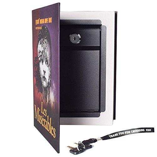 Booksafe Diversion Secret Real Book Hidden Safe with Key Lock Real Paper Book Locking-Les Miserables