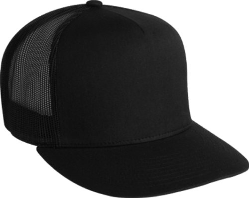 Adjustable Snapback Classic Trucker Hat by FlexFit #6006 (Black)