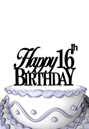 Meijiafei Elegant 16th Happy Birthday Cake Topper Set For Kids Party Decoration Supplies