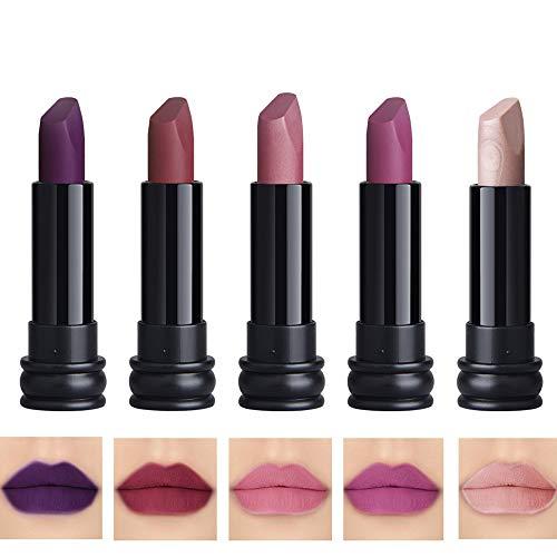 5PCS Matte Lipstick Set Matte Silky Velvet Waterproof Lipstick Lasting Non-stick Cup Lipstick (3)