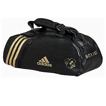 6d7c049915 adidas - Sac de sport PU convertible en sac à dos bandes or Large ...