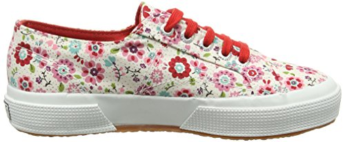Superga 2750 Cotflowersj - Zapatillas Unisex Niños Rosa (C18 Flowers Pink/Red)