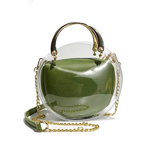 Black Green de Metal Bolso plástico de Mano Bolso Transparente de Mano de 1qqvw