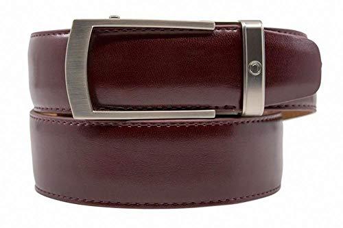 Portofino Cordovan Premium Italian Leather Belt for Men with Automatic Buckle - Nexbelt Ratchet System Technology ()