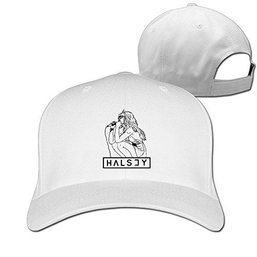 Halsey Sit And Sing Illustrations Plain Sunscreen Trucker Hat Unisex Cap
