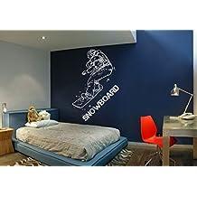 ik612 Wall Decal Sticker snowboarder snow board sports bedroom kids teen rink by StickersForLife