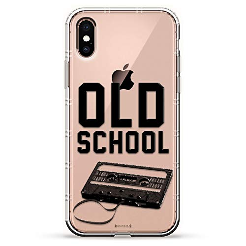 - OLD SCHOOL CASSETTE TAPE | Luxendary Air Series Clear Silicone Case with 3D printed design and Air-Pocket Cushion Bumper for iPhone Xs Max (new 2018/2019 model with 6.5