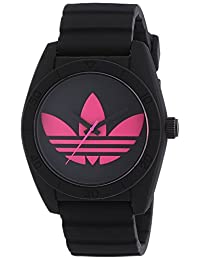 Adidas adh2878 Polycarbonate Case Black Silicone Mineral Women's Watch