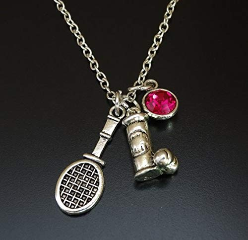 Tennis Necklace, Tennis Charm, Tennis Pendant, Tennis Jewelry, Tennis Gift for Her, Tennis Women, Tennis Girl, Tennis Mom, Women Tennis, Tennis Team Gift, Tennis Coach Gift, Tennis Gifts for Women