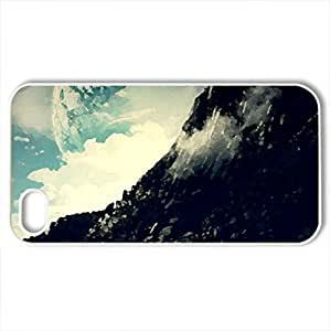 Mountain - Case Cover for iPhone 4 and 4s (Mountains Series, Watercolor style, White)