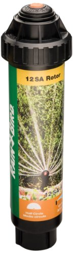 Rain Bird 12SAH High-Efficiency Mini Rotary Pop-Up Spray, 180° Half Circle Pattern, 13' - 18' Spray Distance, 4