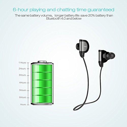 LOTIENE Bluetooth 4.1 auriculares inalámbricos con reducción de ruido sentivus Wireless Headset auriculares in-ear-con micrófono sudadera armeeverkauf para ...