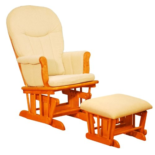AFG Athena Deluxe Glider Chair - Pecan
