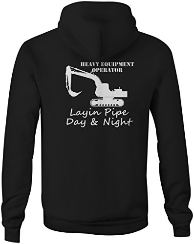 Heavy Equipment Operator Layin Pipe Day Night Funny Full Zip Sweatshirt - - Operator Sweater