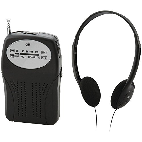 Gpx R116B Portable Handheld Am/fm Radio With Headphones