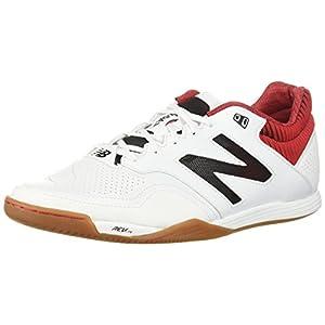 New Balance Men's Audazo 2.0 Pro In Soccer Shoe, White/Red, 11 2E US