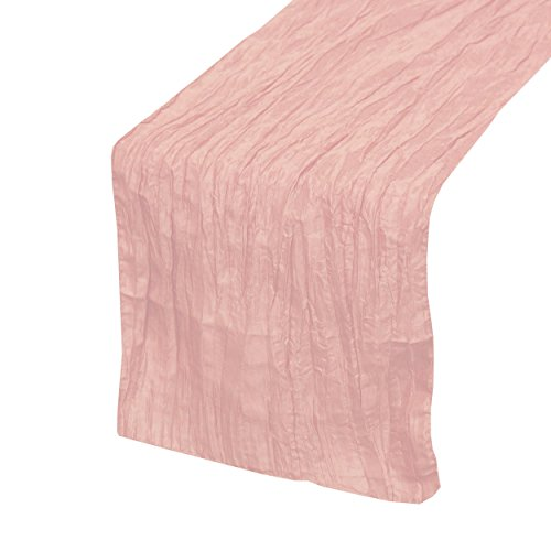 Your Chair Covers   14 X 108 Inch Crinkle Taffeta Table Runners Blush,  Table Runner For Weddings, Events, Hotels And Catering Services