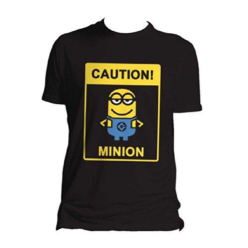 Ich - Einfach unverbesserlich 2 - Caution Minions Men T-Shirt - Black - Size Large