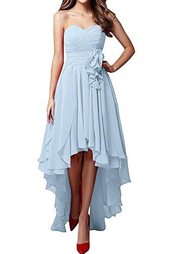 Chiffon Brautjungfernkleider Dunkel La Abendkleider Linie mia Blau Partykleider Braut Festlichkleider Langes A Himmel Damen Blau Rock HnzXqw