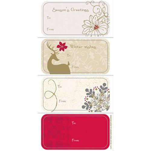 The Gift Wrap Company 24-Count Adhesive Christmas Labels, Woodland Elegance by The Gift Wrap Company