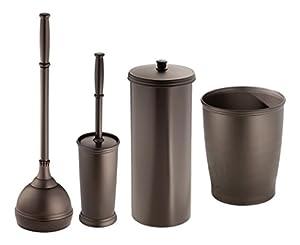 metrodecor mdesign bowl brush plunger toilet paper holder round wastebasket trash. Black Bedroom Furniture Sets. Home Design Ideas