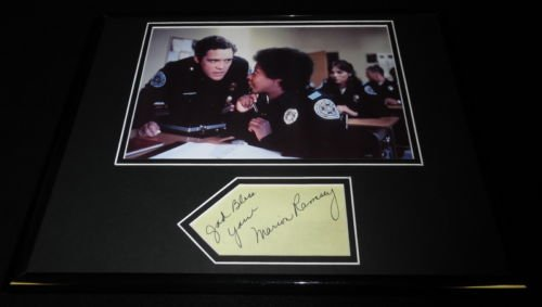 Marion Ramsey Signed Framed 11x14 Photo Stretch JSA Police Academy