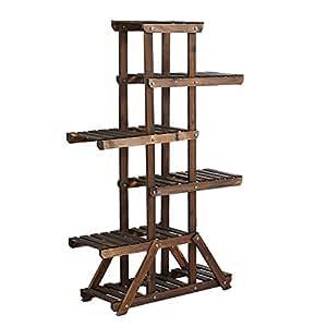 Solid wood creative flower rack / multi-storey flower rack / balcony indoor and outdoor racks