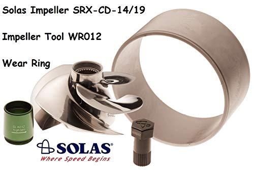 - Solas SeaDoo Impeller W/ Wear Ring & Tool SRX-CD-14/19 RXTX 255 RXT RXP Wake 215