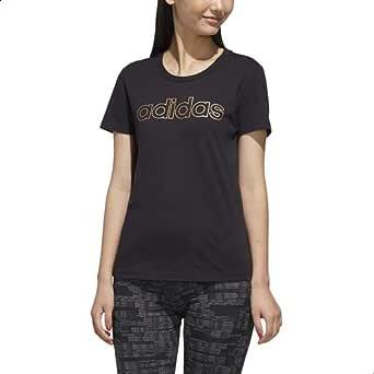 Adidas Essentials Branded Round Neck Cotton T-shirt for Women
