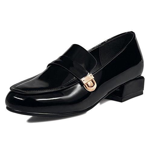 Cabeza de estilo Inglaterra Mujer casual los redonda coreano B zapatos zapatos Primavera con Zapatos pies en TEwOw